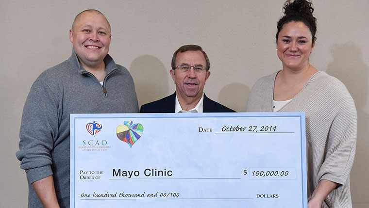 $100,000 Check Presentation to Mayo Clinic SCAD Research Program