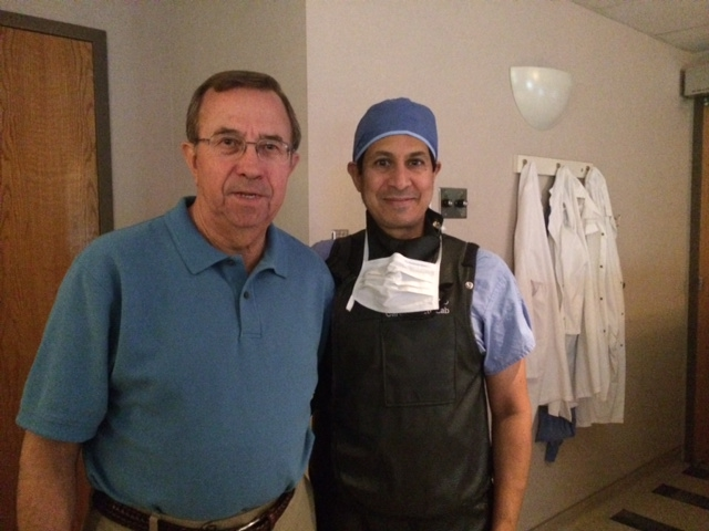 Bob and Dr. Rajiv Gulati, SCAD expert from the catheterization lab.